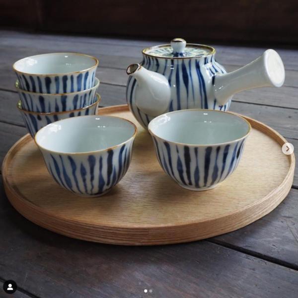 煎茶茶碗と急須